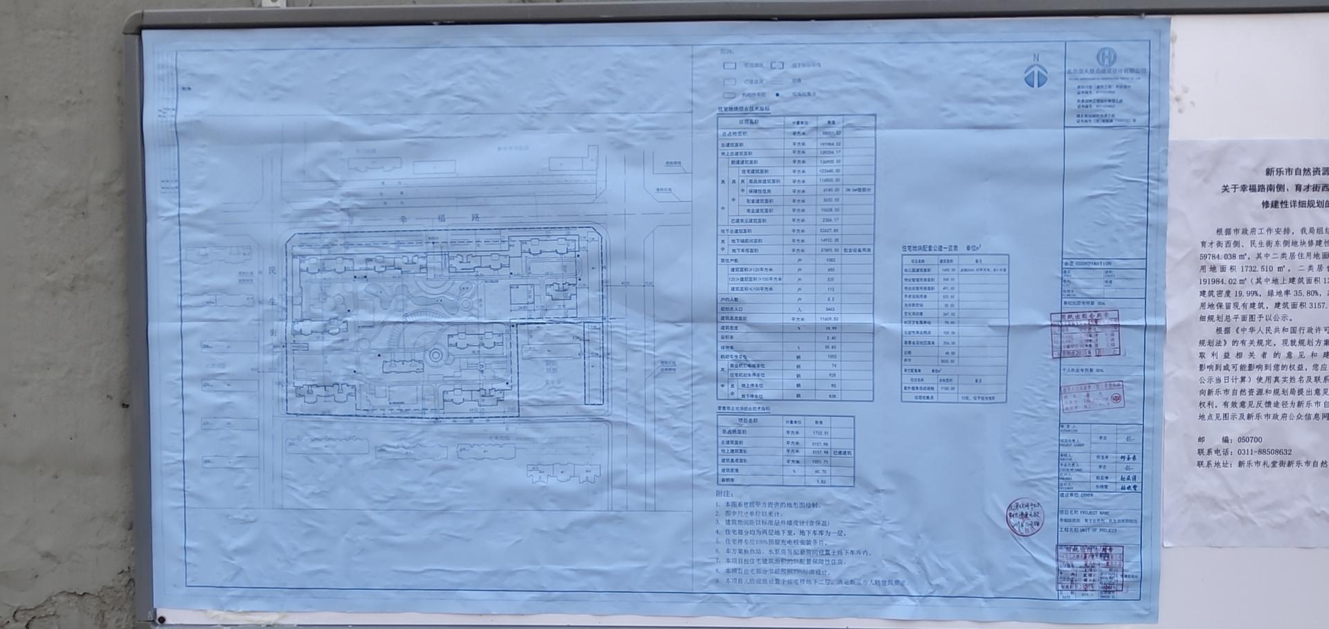 新乐市幸福路南侧、育才街西侧、民生街东侧地块修建性详细规划批前公示-中国网地产
