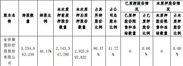 中天金融:金世旗控股解除质押7.05亿股股份 占总股本10.06%-中国网地产