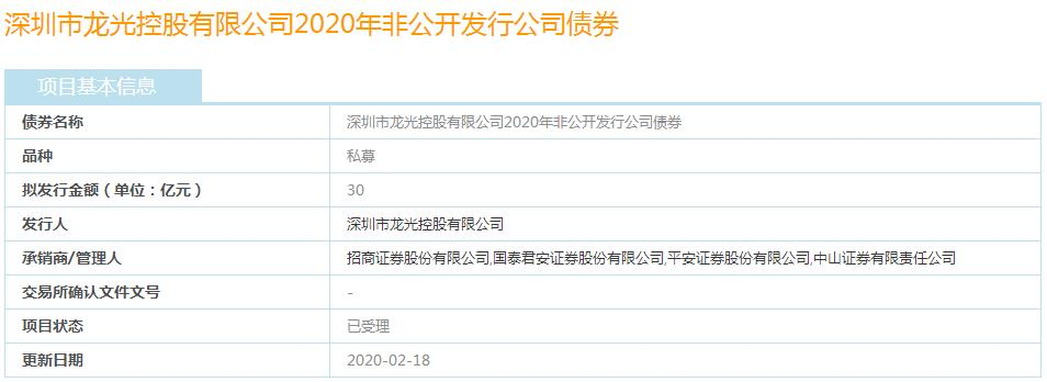 龙光控股30亿元私募债券已获上交所受理-中国网地产