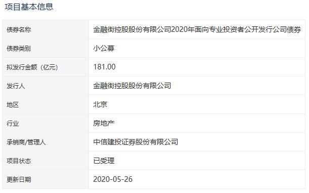 金融街181亿元公司债券已获深交所受理-中国网地产