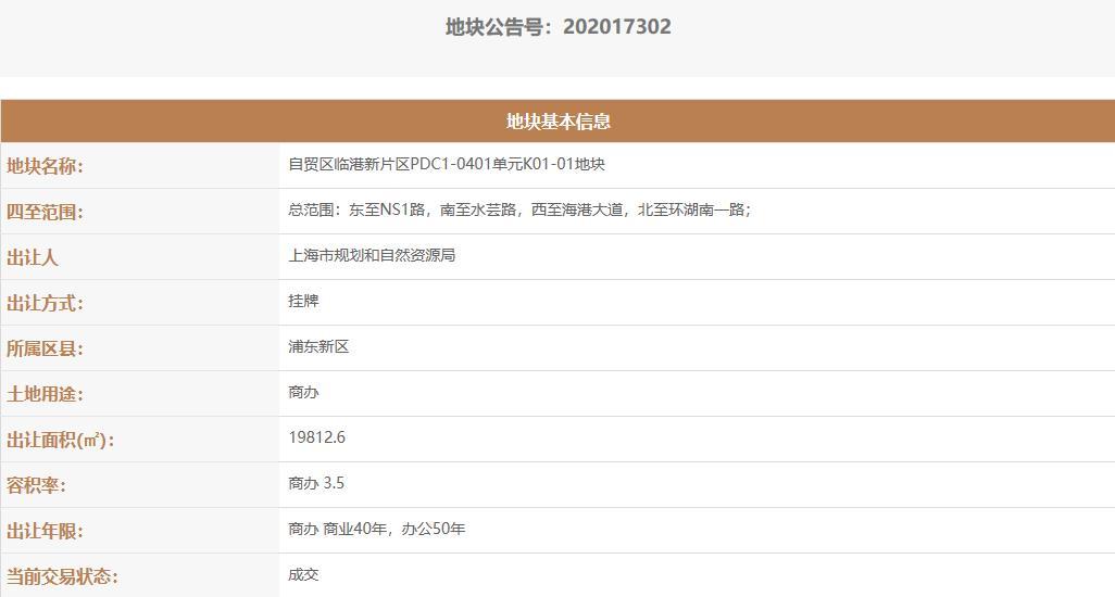 中建八工局3.13亿元竞得上海临港1宗商办用地-中国网地产