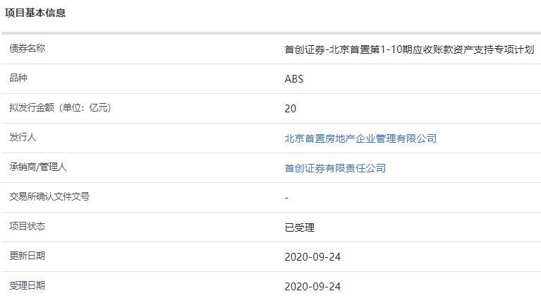 首置房地产20亿元资产支持ABS已获上交所受理-中国网地产