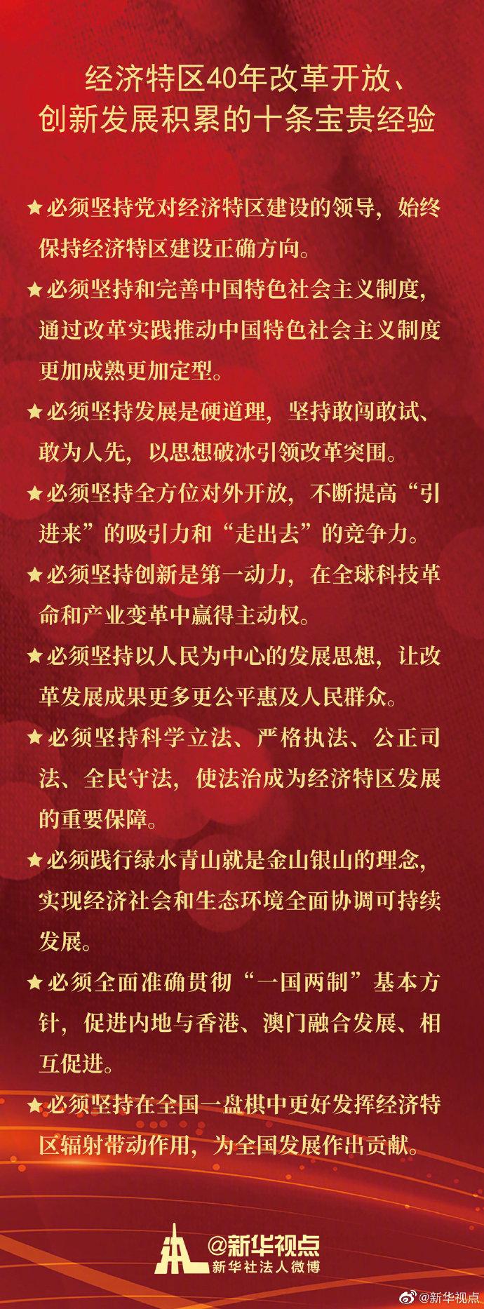 习近平:经济特区40年改革开放、创新发展积累了十条宝贵经验-中国网地产