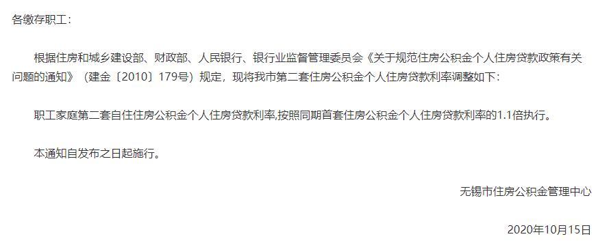 無錫:提高二套房公積金貸款利率-中國網地産