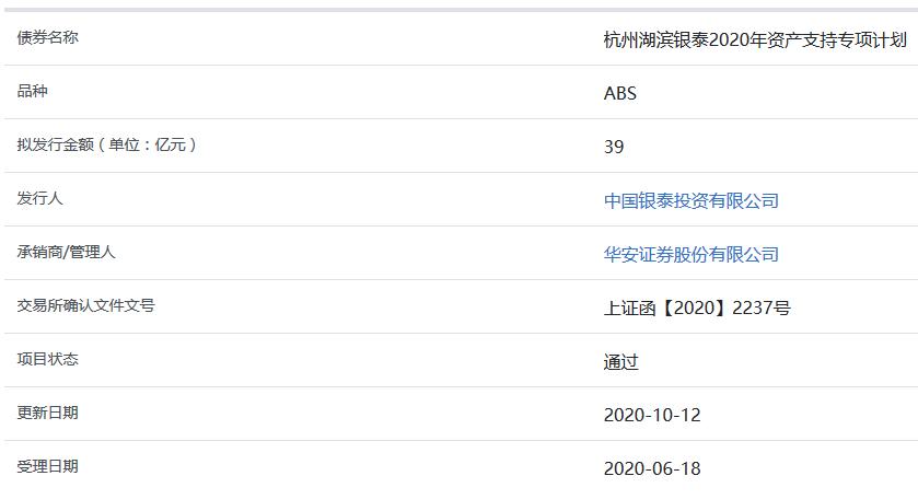 杭州湖濱銀泰39億元ABS獲上交所通過-中國網地産