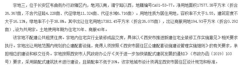 中南9500萬元競得西安1宗居住用地-中國網地産