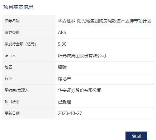 阳光城:5.3亿元资产支持ABS已获深交所受理-中国网地产