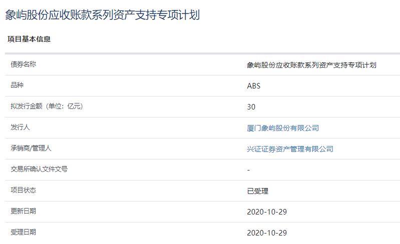 厦门象屿30亿元资产支持ABS已获上交所受理-中国网地产