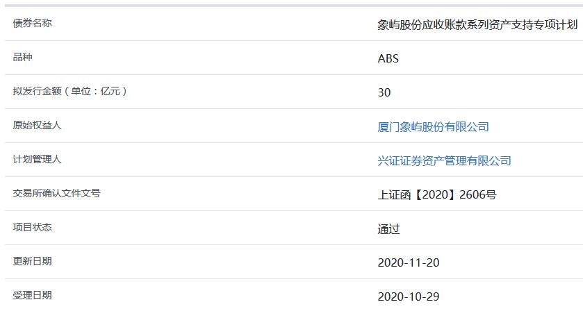 厦门象屿30亿元应收账款ABS获上交所审核通过-中国网地产