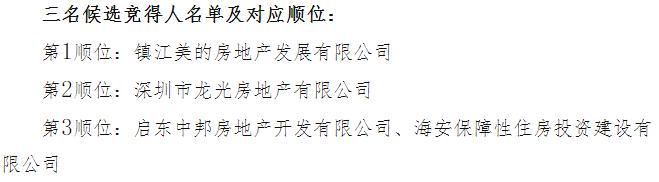 美的8.93亿元中标南通市R20034地块 溢价率17.62%-中国网地产