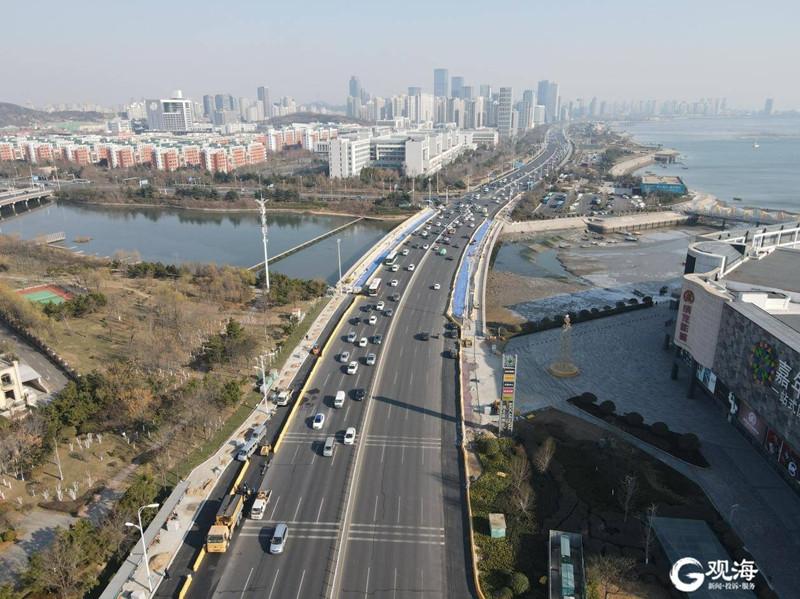 交通状况明显好转!西海岸新区滨海大道拓宽工程基本完工-中国网地产
