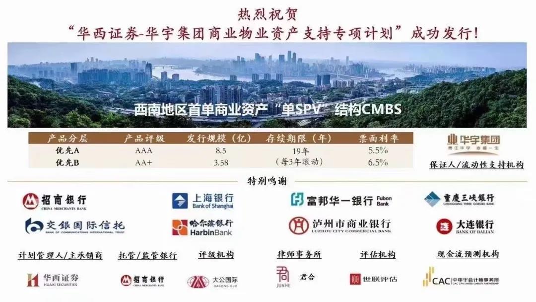 华宇集团成功发行12.08亿元资产支持专项计划 票面利率最高6.5%-中国网地产