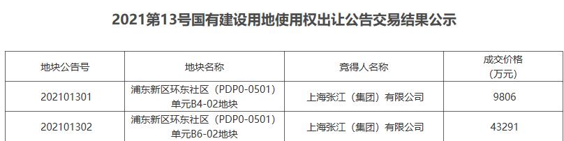 上海张江5.31亿元竞得上海浦东新区2宗科研地块-中国网地产