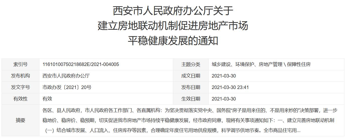 """西安楼市新政:新房二手房均要""""满5""""方可上市交易 4年内无房算刚需-中国网地产"""