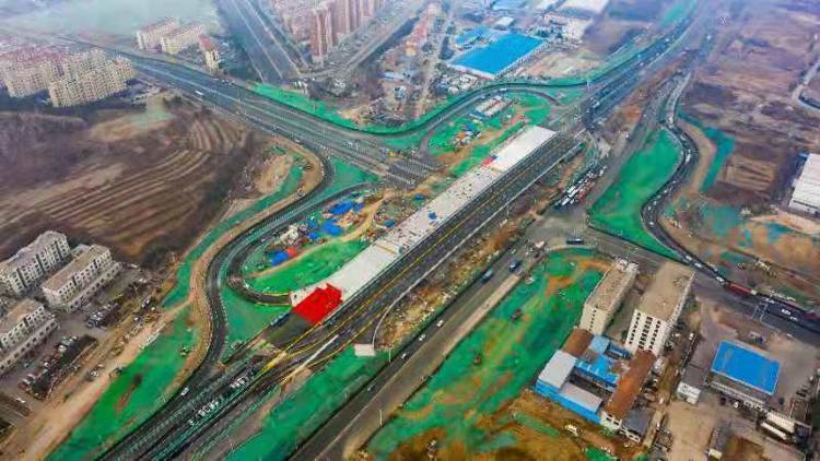 """冲刺""""终点线""""!青岛西海岸新区交通基建项目""""春潮涌动""""-中国网地产"""