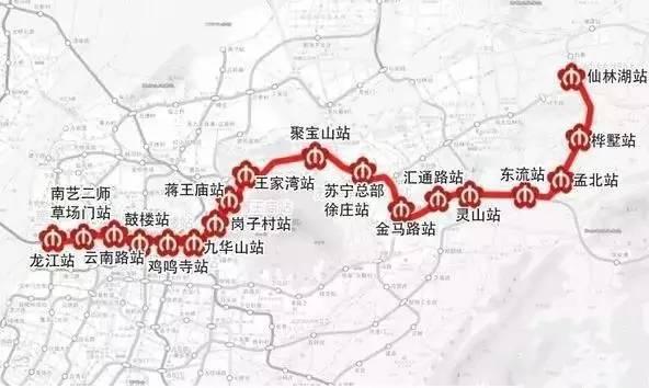 线路东西贯穿南京,一期工程起点是草场门大街龙江站,东至仙林大学城