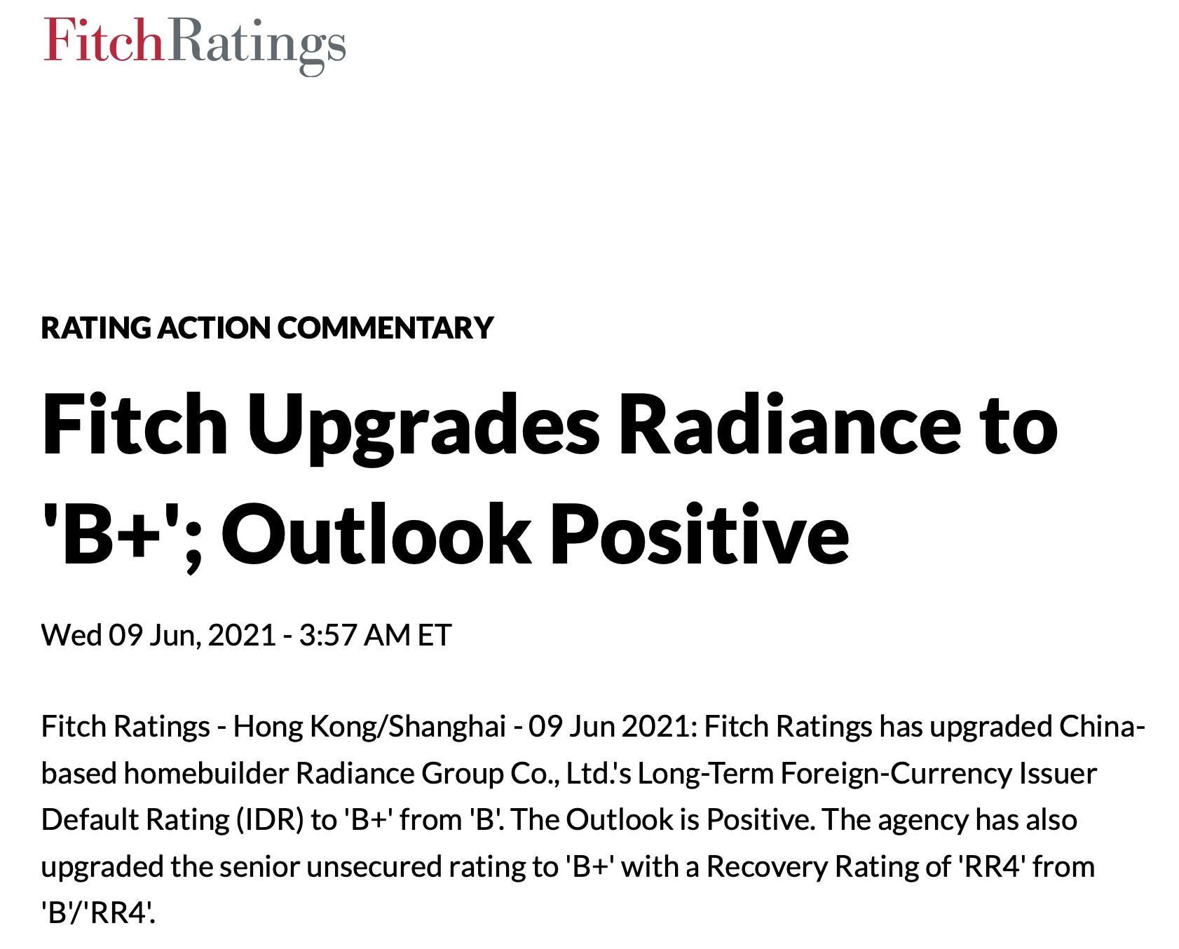 """金辉控股上市后财务表现优异 惠誉再度上调评级至""""B+""""中国网地产"""