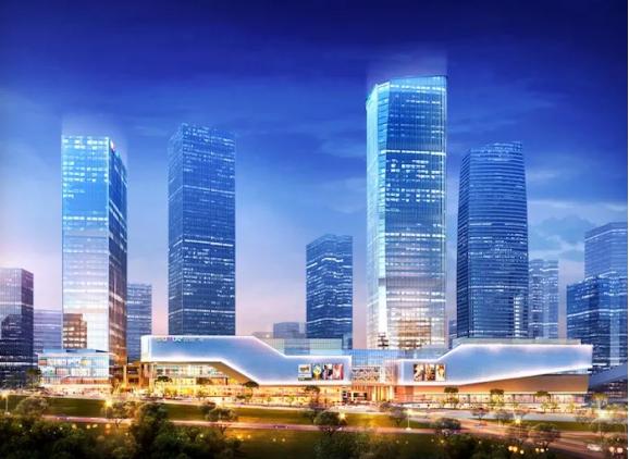 两江国际商务中心最新建设进度:首座5A甲级写字楼封顶,缔造千亿商圈海拔第一高度!中国网地产