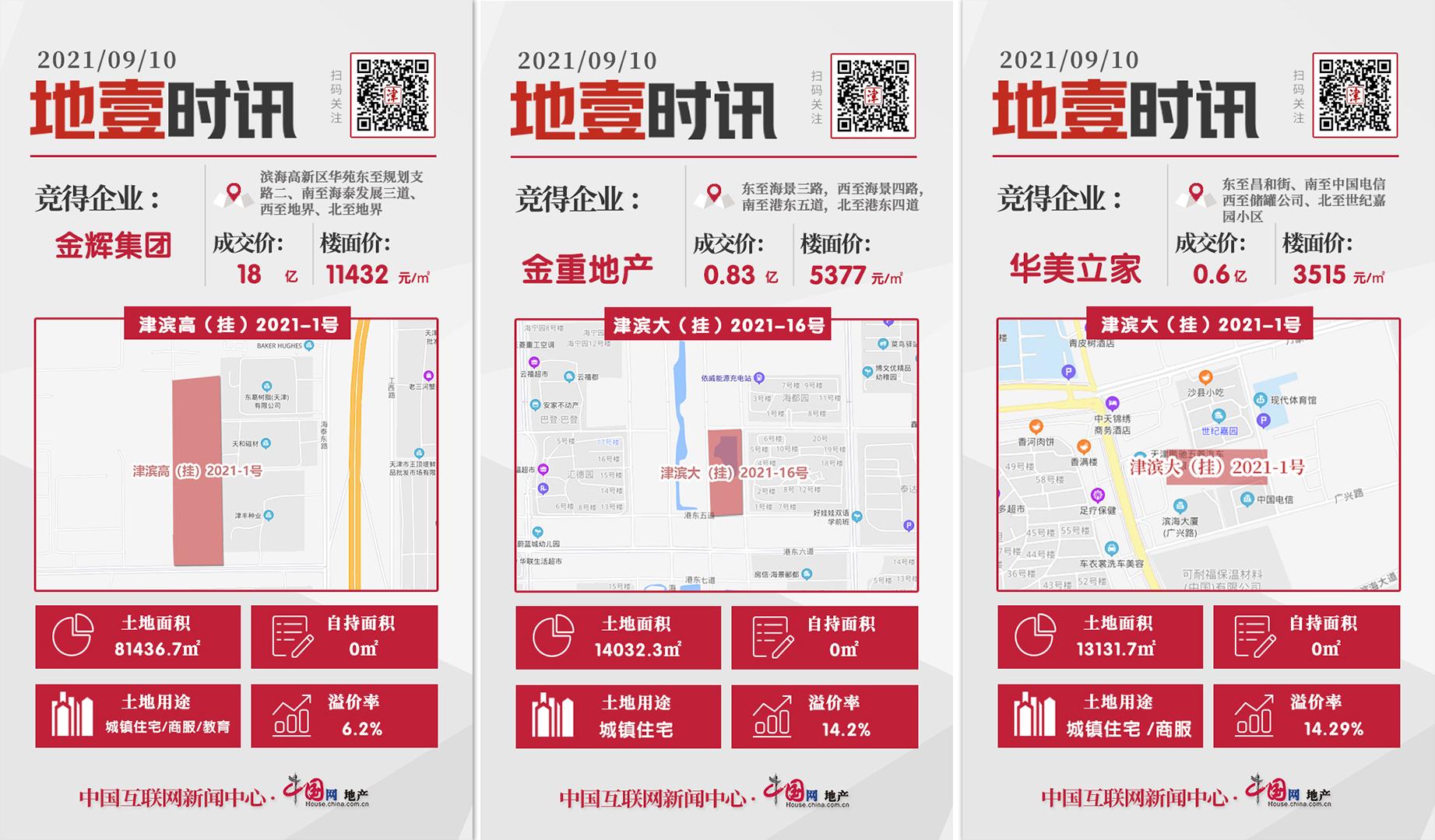 天津第二次集中出让首日收官 成交总价216.499亿_中国网地产
