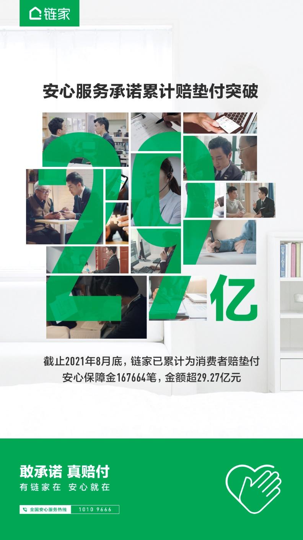助力美好居住 链家累计支付安心保障金超29亿_中国网地产