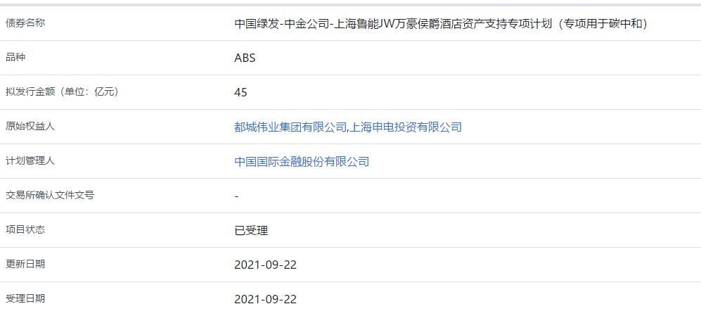 都城伟业集团:45亿元资产支持专项计划获上交所受理_中国网地产